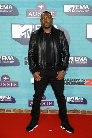 Rapper Dizzee Rascal also wore all black on the red carpet.