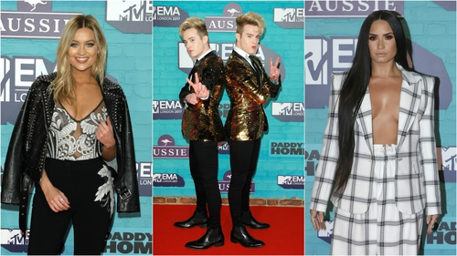 Red Carpet Fashion at the 2017 EMA's.