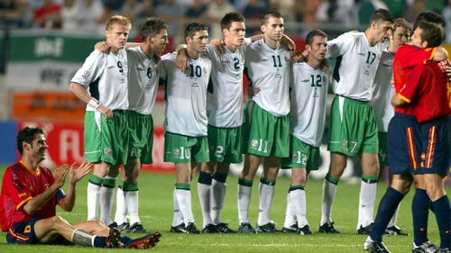 Ireland's last penalty shoot-out came at the 2002 World Cup against Spain
