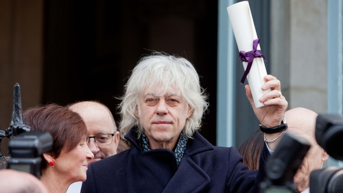 Bob Geldof returned his award last month