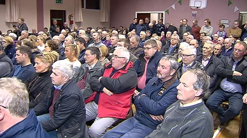 The meeting in Coolderry heard local concern about the increasing number of burglaries
