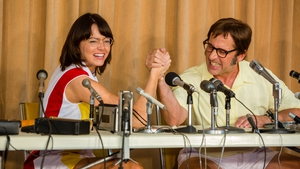 Emma Stone as Billie Jean King and Steve Carell as Bobby Riggs