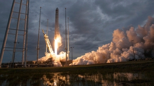 cargo ship launched atop an Antares rocket from Wallops Island, Virginia, on Sunday