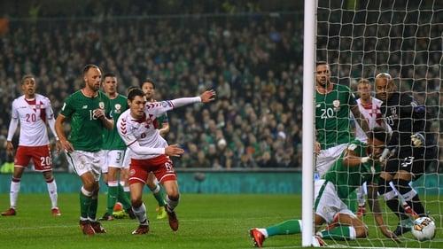 Cyrus Christie scored an own goal when Ireland lost 5-1 to Denmark