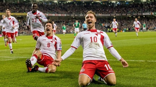 Eriksen's hat-trick took his World Cup qualifying tally to 11 goals.