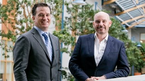 Kaseya's CEO Fred Voccola (L) and Fergal McAleavey, Head of Private Equity of ISIF