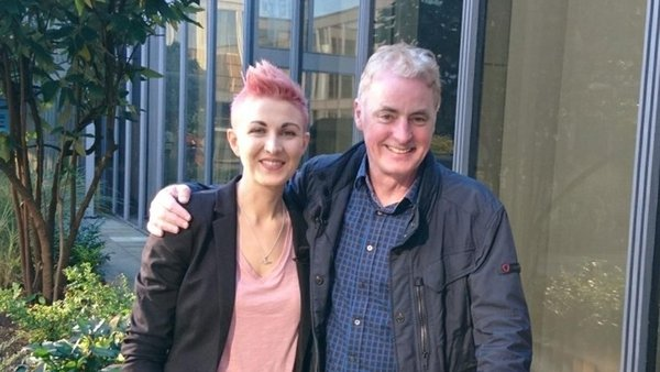 Dr Jennifer Cleary with 2fm's Dave Fanning