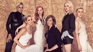 Mary J. Blige, Jennifer Lawrence, Jessica Chastain, Allison Janney, Emma Stone and Saoirse Ronan. Photo by Ruven Afanador.