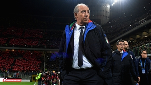 Gian Piero Ventura looks on during the World Cup play-off defeat to Sweden