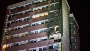 Fire occurred in a flat on the ninth floor