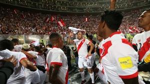 Peru celebrate their World Cup qualification