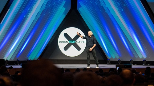 American entrepreneur Gary Vaynerchuk speaking at last year's summit