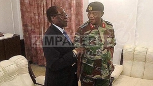 Robert Mugabe, who has has ruled Zimbabwe since 1980, meets Army chief Constantino Chiwenga