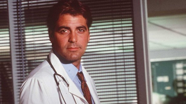 George Clooney in his breakthrough role in the medical drama ER