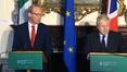 RTÉ News: Simon Coveney and Boris Johnson press conference