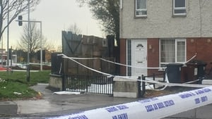 Gardaí have sealed off the scene of the shooting in Clondalkin