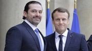 Saad al-Hariri and French President Emmanuel Macron in Paris