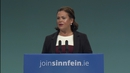 Mary Lou McDonald addressing the Sinn Féin Ard Fheis in Dublin this morning
