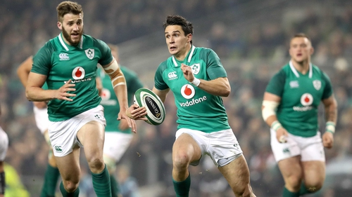 Joey Carbery will start at out-half for Ireland's opening test against Australia