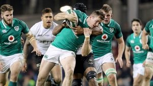 Chris Farrell in action against Fiji in Lansdowne Road