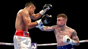 Carl Frampton lands a punch on Horacio Garcia