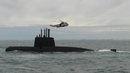 The Argentine navy taking part in the search for the missing submarine