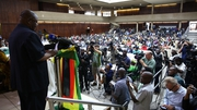 Delegates at this morning's special meeting of Mr Mugabe's ZANU-PF party