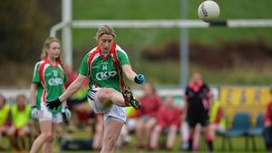 Cora Staunton scoring a point