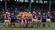 A row breaks out between Clare and Galway at Fenway Park