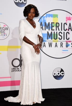 Viola Davis was a vision in white wearing this Michael Kors gown.