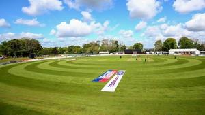 Ireland faced New Zealand at Malahide Cricket Club in May