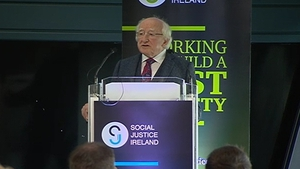 President Micheal D Higgins was addressing a conference of Social Justice Ireland