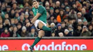 Ian Keatley kicked Ireland's winning score against Fiji