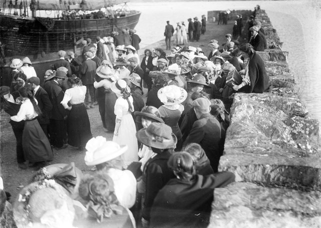 Dancing on a pier. Source: National Library of Ireland
