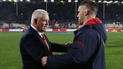 Warren Gatland and Sean O'Brien pictured during the Lions  tour