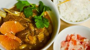 Sugarbean curry sambal and rice
