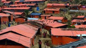 Rohingya children in a refugee camp