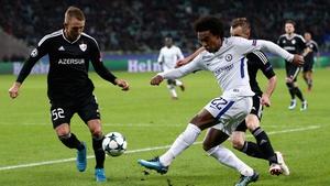 Willian starred for Chelsea