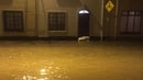 Flooding on a street in Mountmellick