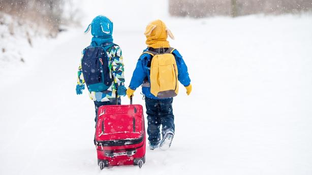 kids on a ski holiday