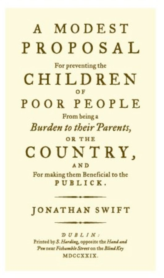 """A Modest Proposal"" by Jonathan Swift"