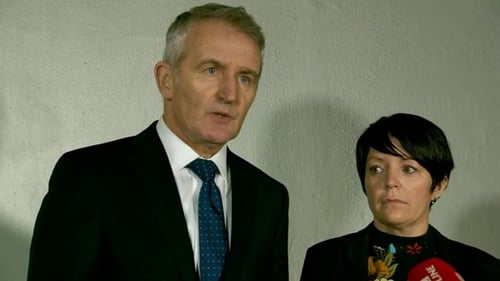Solicitor Robert Anderson with Louise James following the verdicts