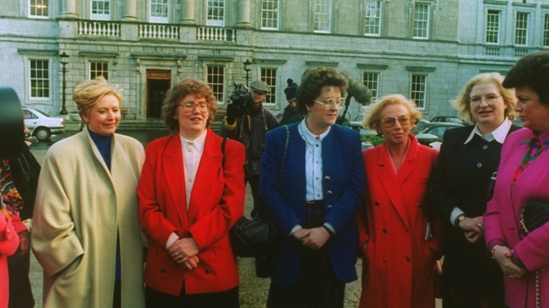 Frances Fitzgerald, far left, with other female TDs in 1993