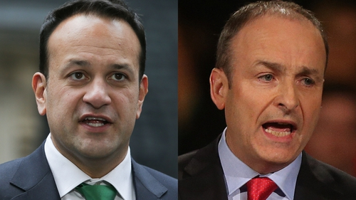 Fine Gael dropped one point, while Fianna Fáil dropped three points