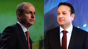 Fianna Fáil leader Micheál Martin and Taoiseach Leo Varadkar met at Government Buildings this afternoon