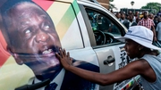 A supporter of Emmerson Mnangagwa in Zimbabwe's capital Harare