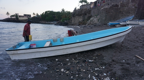 A kwassa kwassa boat used to transport migrants to Mayotte