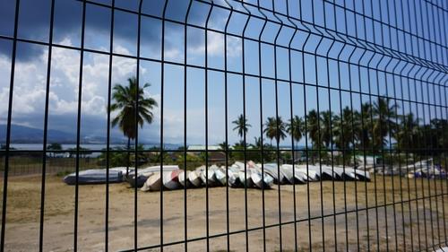 Impounded kwassa kwassa boats on Mayotte
