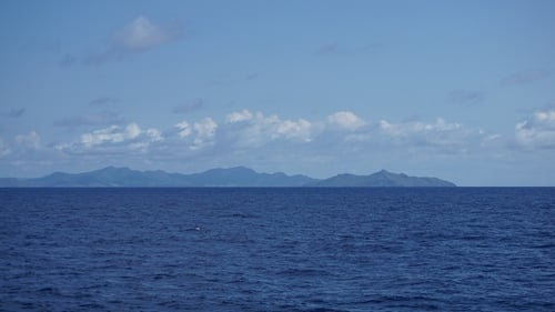 Mayotte as seen on approach from Anjouan in the Union of Comoros