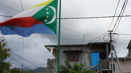 The Union of Comoros flag has four stars - Mayotte is still claimed as part of the Union